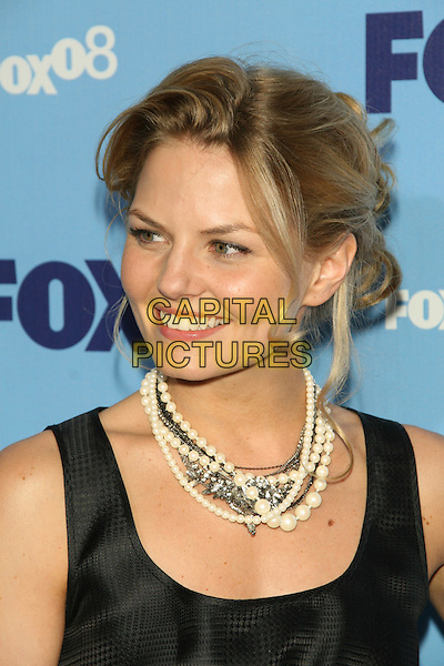 JENNIFER MORRISON.2008 Fox Televison Network Upfront (programming presentation to advertisers) at Wollman Rink in Central Park, New York, NY, USA..May 15th, 2008.headshot portrait white beads beaded necklaces .CAP/LNC/TOM.©TOM/LNC/Capital Pictures.