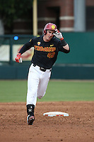 David Edson #42 of the Southern California Trojans runs the bases during a game against the Coppin State Eagles at Dedeaux Field on February 18, 2017 in Los Angeles, California. Southern California defeated Coppin State, 22-2. (Larry Goren/Four Seam Images)