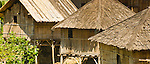 Traditionalo bamboo homes, near Liang Bua village, Manggarai, Flores.