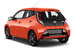 Car pictures of rear three quarter view of a 2015 Toyota AYGO X-CITE 2WD MT 5 Door Micro Car 2WD Angular Rear