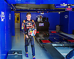 Toro Rosso Formula One driver Max Verstappen of the Netherlands is seen in the pit lane during a free practice session ahead of the weekend's Belgian F1 Grand Prix in Spa-Francorchamps, Belgium August 21, 2015. photo/Michael Kooren