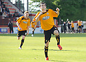 Alloa's Kevin Cawley celebrates after he scores Alloa's second ...