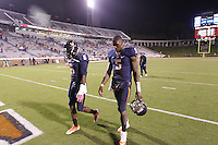 DUPLICATE***Virginia quarterback David Watford (5)***Virginia cornerback Tim Harris (5) Virginia wide receiver Darius Jennings (6) Duke defeated Virginia 35-22 at Scott Stadium in Charlottesville, VA. . Photo/Andrew Shurtleff