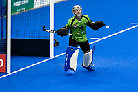 2nd February 2020; Sydney Olympic Park, Sydney, New South Wales, Australia; Womens International FIH Field Hockey, Australia versus Great Britain Women; Goalkeeper Rachael Lynch of Australia watches as a shot goes wide