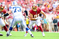 Landover, MD - September 16, 2018: Washington Redskins linebacker Ryan Kerrigan (91) in action during game between the Indianapolis Colts and the Washington Redskins at FedEx Field in Landover, MD. The Colts defeated the Redskins 21-9.(Photo by Phillip Peters/Media Images International)