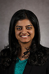 Sonia Varughese, Staff Accountant, Restricted Accounting, DePaul University, is pictured in a studio portrait Monday, Feb. 16, 2015. (DePaul University/Jeff Carrion)
