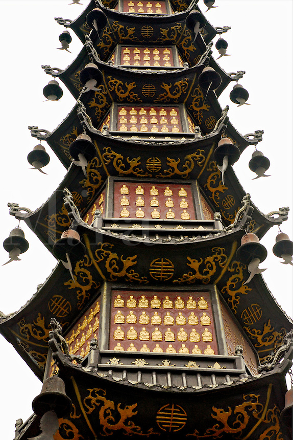 The pagoda of a thousand Buddhas, Wenshu Temple, Chengdu, China.