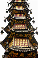 The pagoda of a thousand Buddhas, Wenshu Temple, Chengdu, China.