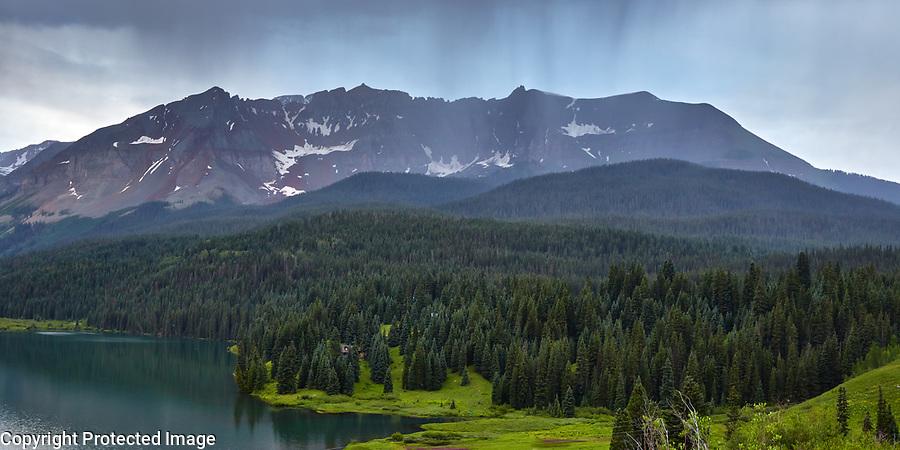 Storm clouds over the San Juan mountains near Telluride, Colorado