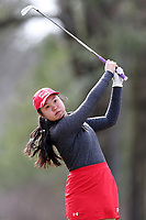 WALLACE, NC - MARCH 09: Hanako Kawasaki of Boston University tees off on the 17th hole of the River Course at River Landing Country Club on March 09, 2020 in Wallace, North Carolina.