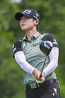 Sung Hyun Park (KOR) watches her tee shot on 11 during round 4 of the 2018 KPMG Women's PGA Championship, Kemper Lakes Golf Club, at Kildeer, Illinois, USA. 7/1/2018.<br /> Picture: Golffile | Ken Murray<br /> <br /> All photo usage must carry mandatory copyright credit (&copy; Golffile | Ken Murray)