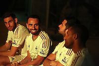 Pictured L-R: Angel Rangel, Leon Britton, Jordi Amat and Wayne Routledge 01 April 2015<br />