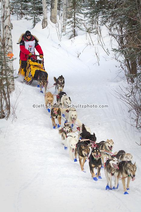 2010 Iditarod Re-start in Willow Alaska musher # 19 MITCH SEAVEY