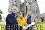 Looking over the Commission Call for the Daniel O'Connell Monument on Friday at the Daniel O'Connell Memorial Church in Cahersiveen were l-r; Fr. Larry Kelly, Mary McGill(Church Secretary) & Michael O'Driscoll(Director ACARD).