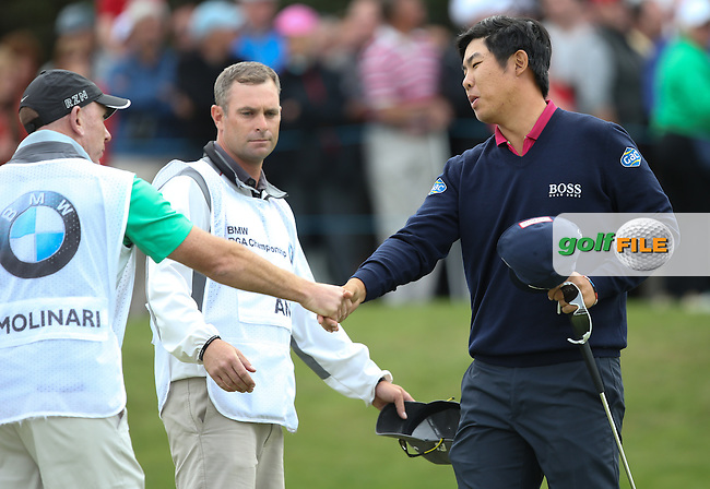 Byeong Hun-An (KOR) is joint leader after a round of 67, with Francesco Molinari (ITA) during Round Three of the 2015 BMW PGA Championship over the West Course at Wentworth, Virginia Water, London. 23/05/2015. Picture David Lloyd | www.golffile.ie.