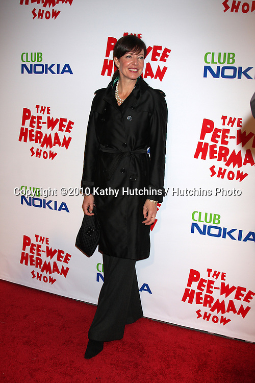 "Allison Janney.arriving at the ""The Pee Wee Herman Show"" Opening Night..Club Nokia.Los Angeles, CA.January 20, 2010.©2010 Kathy Hutchins / Hutchins Photo...."