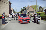 The start of La Fleche Wallonne Femmes 2018 running 118.5km from Huy to Huy, Belgium. 18/04/2018.<br /> Picture: ASO/Thomas Maheux | Cyclefile.<br /> <br /> All photos usage must carry mandatory copyright credit (&copy; Cyclefile | ASO/Thomas Maheux)
