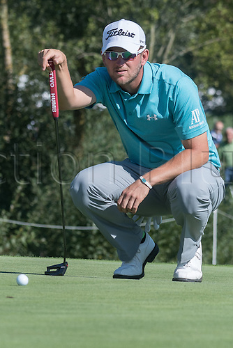 22.09.2016. Bad Griesbach, Germany, PGA European Tour, round 1.   Bernd Wiesberger of Austria in action at the European Tour - European Open in golf in Bad Griesbach, Germany, 22 September 2016.