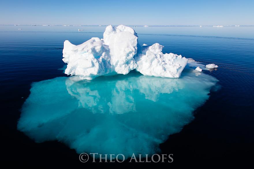 Norway, Svalbard, iceberg in fjord
