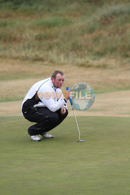 Simon Bryan (Delgany) on the 3rd Hole, Day 2 at the East of Ireland Amateur Open Championship 2011 in Co.Louth Golf Club....(Photo credit should read Jenny Matthews www.newsfile.ie)....This Picture has been sent you under the conditions enclosed by:.Newsfile Ltd..The Studio,.Millmount Abbey,.Drogheda,.Co Meath..Ireland..Tel: +353(0)41-9871240.Fax: +353(0)41-9871260.GSM: +353(0)86-2500958.email: pictures@newsfile.ie.www.newsfile.ie.