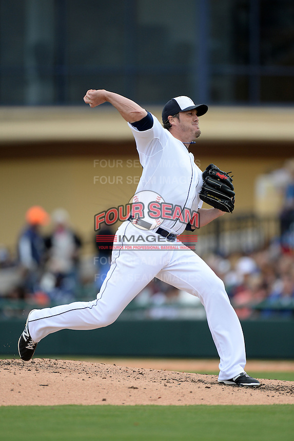 Detroit Tigers pitcher Joe Nathan (36) during a spring training game against the Atlanta Braves on February 27, 2014 at Joker Marchant Stadium in Lakeland, Florida.  Detroit defeated Atlanta 5-2.  (Mike Janes/Four Seam Images)