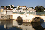 Roman Bridge and the Gilao River, Tavira, Algarve, Portugal