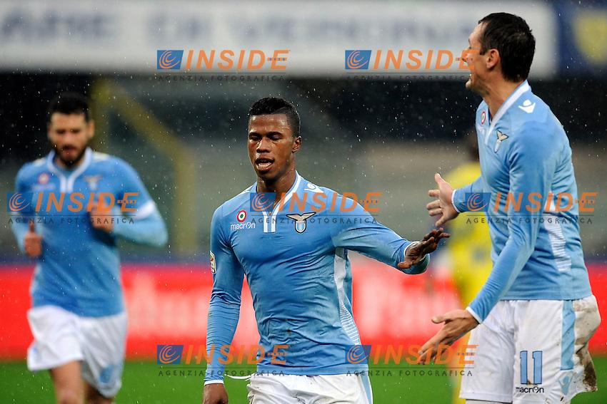Keita Balde Lazio Esultanza dopo il gol, Goal celebration 0-2 <br /> Verona 02-02-2014 Stadio Bentegodi. Football Calcio Serie A 2013/2014 Chievo Verona - Lazio foto Insidefoto