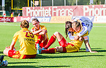 Tyres&ouml; 2014-05-25 Fotboll Damallsvenskan Tyres&ouml; FF - FC Roseng&aring;rd :  <br /> Tyres&ouml;s Carola S&ouml;berg ger en kram till Whitney Engen efter matchen<br /> (Foto: Kenta J&ouml;nsson) Nyckelord:  Damallsvenskan Tyres&ouml;vallen Tyres&ouml; TFF FC Roseng&aring;rd FCR Malm&ouml;