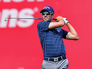 Potomac, MD - June 29, 2017: Adam Hadwin tees off on the 18th hole during Round 1 of professional play at the Quicken Loans National Tournament at TPC Potomac at Avenel Farm in Potomac, MD, June 29, 2017.  (Photo by Don Baxter/Media Images International)