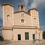 Sant Salvador church within the ancient hilltop fortress, Arta, Mallorca, Spain...Built in 1812.