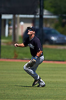 GCL Yankees 1 outfielder Trey Amburgey (66) gets under a fly ball during the first game of a doubleheader against the GCL Tigers on August 5, 2015 at Tigertown in Lakeland, Florida.  GCL Tigers derated the GCL Yankees 5-2.  (Mike Janes/Four Seam Images)