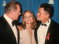 Anthony Hopkins, Jodie Foster, Johnathan Demme, 1992, Oscars, Photo By Michael Ferguson/PHOTOlink