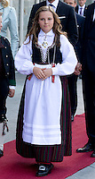 TRONDHEIM, NORWAY - JUNE 23: Princess Ingrid Alexandra of Norway attends a service at Nidaros Cathedral on a visit to Trondheim, during the King and Queen of Norway's Silver Jubilee Tour, on June 23, 2016 in Trondheim, Norway.