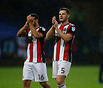 Jack O'Connell of Sheffield Utd applauds the fans during the Championship match at the Macron Stadium, Bolton. Picture date 12th September 2017. Picture credit should read: Simon Bellis/Sportimage