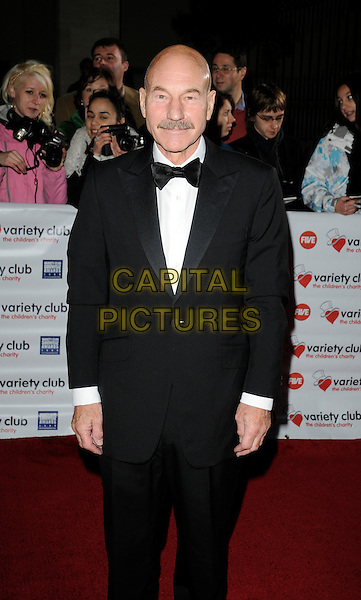 PATRICK STEWART.Variety Club Showbiz Awards held at the Grosvenor House Hotel, Park Lane, London, England. .November 15th, 2009 .half length moustache mustache facial hair bow tie black tuxedo .CAP/CAN.©Can Nguyen/Capital Pictures.