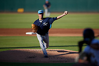 Charlotte Stone Crabs starting pitcher Michael Plassmeyer (13) during a Florida State League game against the Bradenton Marauders on July 30, 2019 at LECOM Park in Bradenton, Florida.  Charlotte defeated Bradenton 5-0.  (Mike Janes/Four Seam Images)