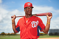 GCL Nationals Armond Upshaw (3) poses for a photo after a game against the GCL Astros on August 14, 2016 at the Carl Barger Baseball Complex in Viera, Florida.  GCL Nationals defeated GCL Astros 8-6.  (Mike Janes/Four Seam Images)