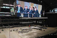 Arlington, TX: Dallas Cowboy Stadium September  9, 2010. The FIFA deligation looks on the the field to be at Dallas Cowboy Stadium..©2010 Rick Yeatts
