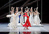 National Ballet of China <br /> The Peony Pavillion <br /> at Sadler's Wells, London, Great Britain <br /> press photocall / rehearsal <br /> 29th November 2016 <br /> <br /> Zhu Yan as Du Liniang <br /> <br /> <br /> <br /> Zhang Jian as Flower Goddess <br /> <br /> <br /> <br /> Photograph by Elliott Franks <br /> Image licensed to Elliott Franks Photography Services