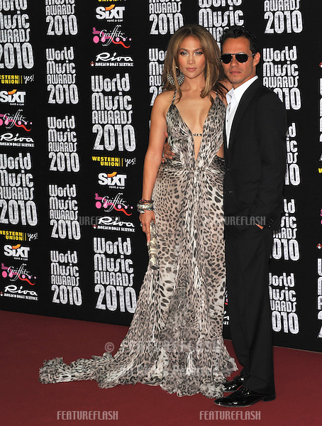 Jennifer Lopez & husband Marc Anthony at the 2010 World Music Awards at the Monte Carlo Sporting Club, Monaco..May 18, 2010  Monaco, France.Picture: Paul Smith / Featureflash