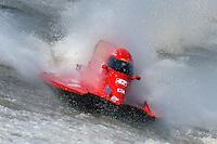 Shaun Torrente's Grand Prix/Mercury races through the propwash of another boat. F1/Formula 1 class.Bay City River Roar, Bay City,Michigan USA.26-2821 June, 2009..©F. Peirce Williams 2009 USA.F.Peirce Williams.photography.ref: RAW (.NEF) File Available