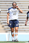 28 August 2011: Notre Dame's Adriana Leon. The Duke University Blue Devils defeated the Fighting Irish of Notre Dame 3-1 at Fetzer Field in Chapel Hill, North Carolina in an NCAA Women's Soccer game.