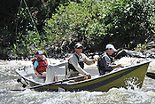 Fishermen & Women floating the Upper Colorado River fishing between Rancho Del Rio and State Bridge on July 12, 2014.