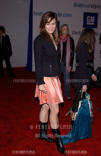 "Feb 22, 2005: Los Angeles, CA: Actress RACHEL BOSTON at General Motors 4th Annual ""ten"" fashion show in Hollywood.."