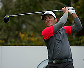 15.10.2014. The London Golf Club, Ash, England. The Volvo World Match Play Golf Championship.  Day 1 group stage matches.  Francesco Molinari [ITA] tee shot on the seventeenth.