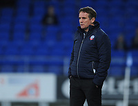 Bolton Wanderers manager Phil Parkinson<br /> <br /> Photographer Kevin Barnes/CameraSport<br /> <br /> The EFL Sky Bet Championship - Cardiff City v Bolton Wanderers - Tuesday 13th February 2018 - Cardiff City Stadium - Cardiff<br /> <br /> World Copyright &copy; 2018 CameraSport. All rights reserved. 43 Linden Ave. Countesthorpe. Leicester. England. LE8 5PG - Tel: +44 (0) 116 277 4147 - admin@camerasport.com - www.camerasport.com
