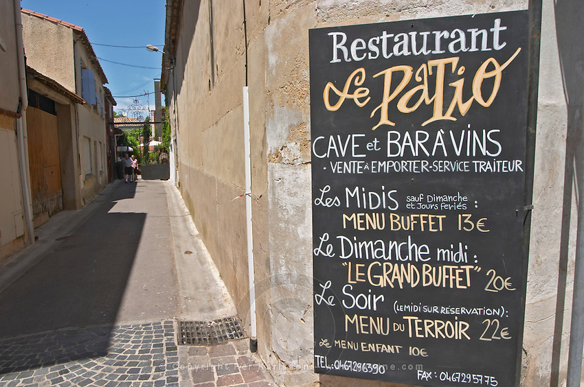 Restaurant Le Patio. Maugio, Languedoc, France.