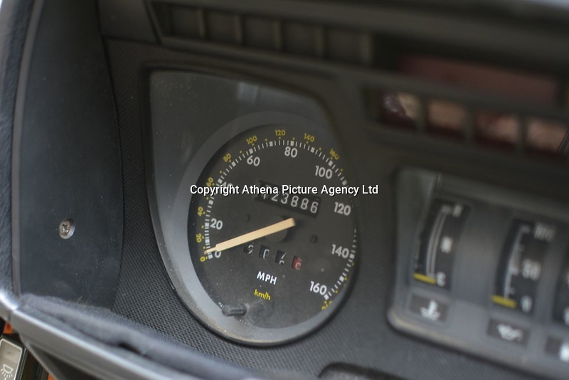 """Pictured: Interior view of the Jaguar up for auction, once owned by Eamonn Holmes<br /> Re: A luxury open-top car sold by TV's Eamonn Holmes to pay off his """"massive"""" tax bill is up for grabs at auction.<br /> The host of Good Morning Britain bought the 5.3 litre Jaguar when he was earning big bucks with the BBC.<br /> But Eamonn was made redundant and at the same time he was hit with an £11,000 demand from the Inland Revenue.<br /> The car was costing him a fortune to run - it did under 15mpg.<br /> After paying a whopping £36,000 for the Jaguar XJSC, Eamonn flogged it for just £8,000 a year later.<br /> The car has an identical price tag at auction almost 30 years later.    <br /> Eamonn, 57, told how he got shot of the Jag when the 1990 Gulf War sparked a big hike in fuel prices.<br /> He said: """"Cars are my weakness - in 1989 I bought a British Racing Green Jaguar.<br /> """"I paid £36,000 in March 1989 then in early 1990 the Gulf War broke out."""