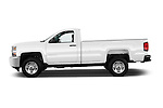 Car Driver side profile view of a 2015 Chevrolet Silverado 2500 Hd Work Truck Regular Cab Lwb 2 Door Pickup 2WD Side View