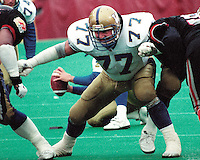 Stan Mikawos Winnipeg Blue Bombers 1991. Copyright photograph Scott Grant